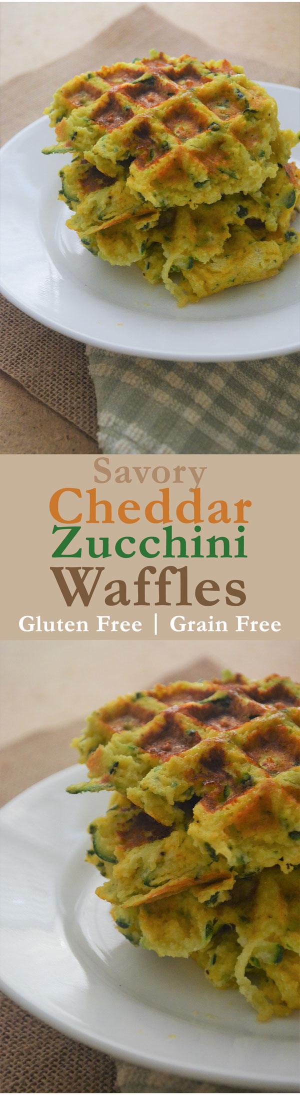 savory cheddar zucchini waffles gluten free grain free