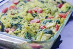 This pesto chicken spaghetti squash bake will squash your pasta cravings (see what I did there?) for sure! It's suitable for a wide array of eating styles including Whole30, Paleo, ketogenic, low-carb, dairy-free, gluten-free and grain-free.