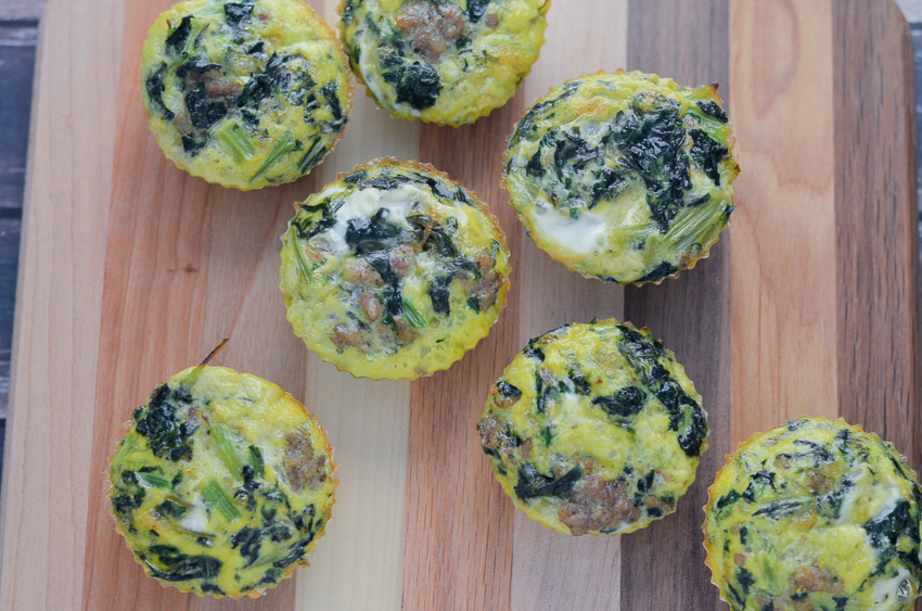 sausage kale and egg cups gluten free dairy free whole30 keto low carb paleo