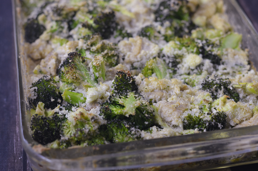 cashew cream broccoli chicken casserole dairy free keto low carb Whole30 dairy free