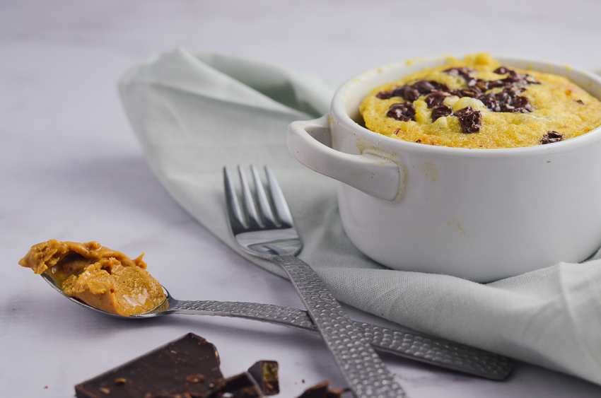 Keto Peanut Butter Chocolate Chip Mug Cake (Low-Carb, Gluten-Free,  Grain-Free)