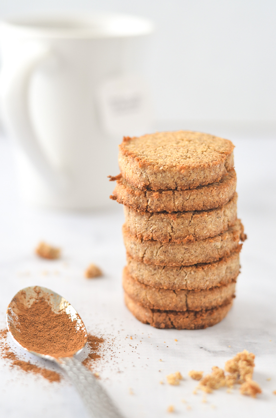 Delicious chai shortbread cookies, made with freshly brewed tea, coconut flour, butter, sweetener and chai spices. These are sure to impress your friends and family! Gluten-free, grain-free, low-carb, ketogenic.