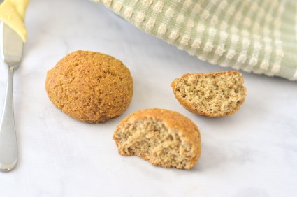 Gluten-free rolls that are super simple and delicious! Quick and easy for those busy nights where you still want some comfort food. With an option for sweet rolls! Grain-free, Paleo, ketogenic, low-carb, dairy-free.