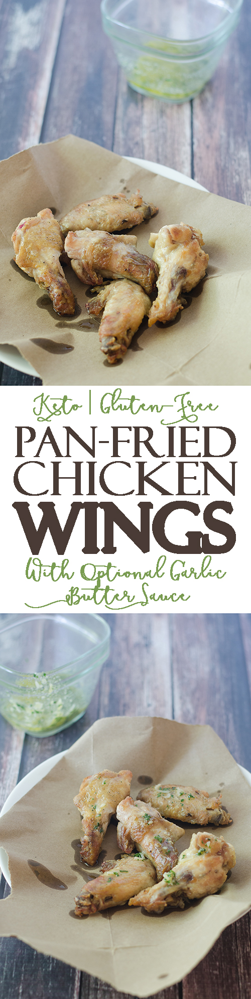 In the mood for some chicken wings but don't have an oven? Or are you looking for a healthier fried chicken recipe in which you can control the type of oil used? Then these pan-fried chicken wings are for you! Gluten-free, grain-free, low-carb, keto.