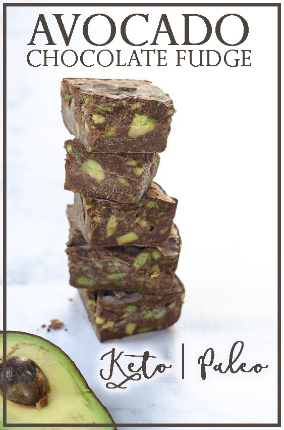 A decadent and dark chocolate fudge speckled with chunks of creamy avocado. Easy to make and lots of fun for the entire family! Gluten-free, grain-free, low-carb, sugar-free, dairy-free, ketogenic, Paleo, vegan.