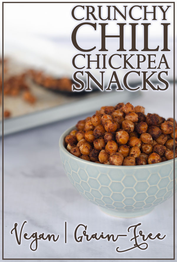 These crunchy chickpea snacks are great for not only munching, but also as a crunchy addition to many recipes! Vegan, grain-free, dairy-free.