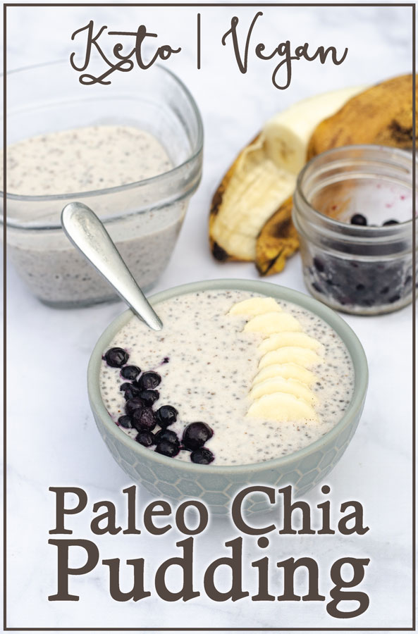 This Paleo cinnamon chia pudding is a delicious breakfast, snack or dessert! It's sweet, flavorful and can be customized however you like. Vegan, low-carb, keto, sugar-free.