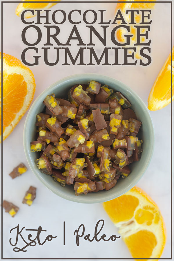Are you a fan of chocolate and orange together? I sure am! These chocolate orange gummies are one of my favorite grab and go snacks! Keto, Paleo, refined-sugar free.