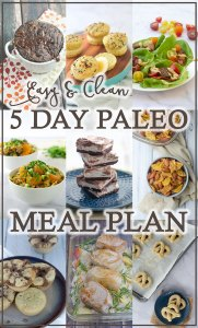 Looking to start a Paleo diet, and in need of some quick and easy meal ideas? This 5 day Paleo meal plan will help get you started! Gluten-free, grain-free, dairy-free.