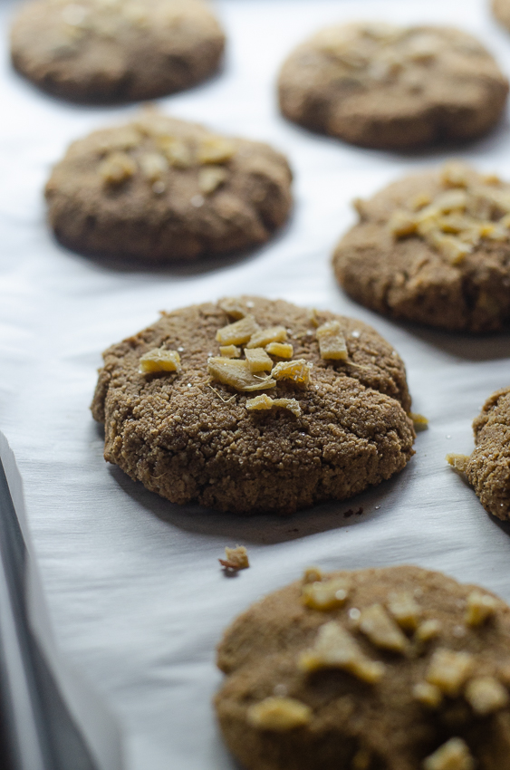Looking for a tasty cookie recipe? These candied ginger snap cookies are super easy to make! Keto, Paleo, low-carb, gluten-free, grain-free, dairy-free.