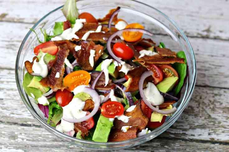 BLT Avocado Salad with Ranch Dressing