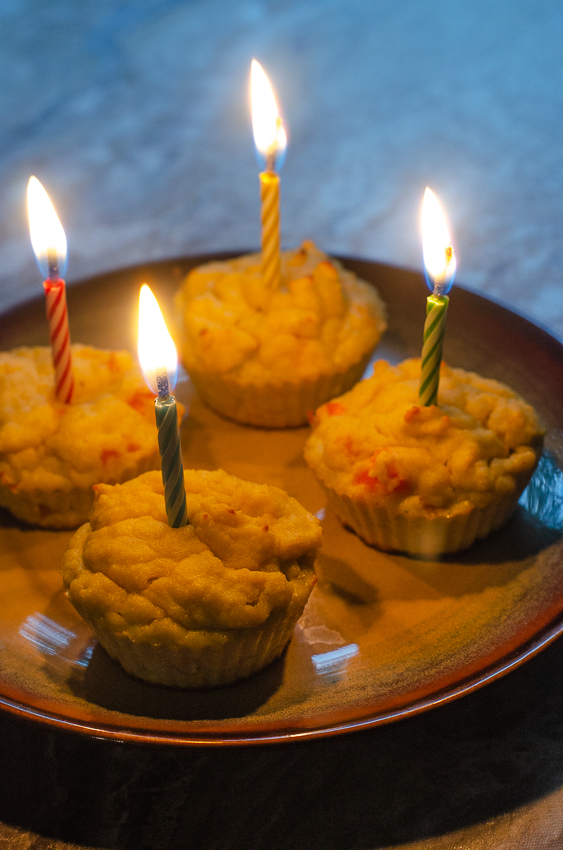 A special treat for your dog, these birthday pupcakes are great for celebrations such as gotcha days and birthdays! Grain-free, dairy-free.