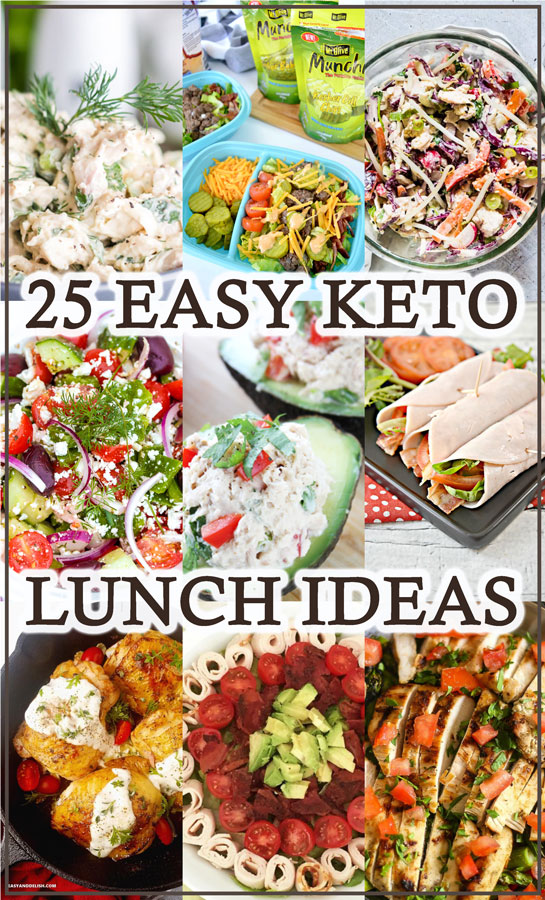 In need of a quick lunch to bring to work? These 25 easy keto lunch ideas will help you when you are pressed for time!