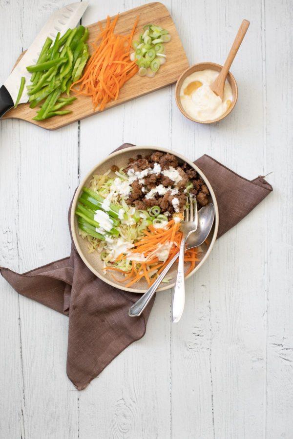 Turkey Cabbage Asian Bowls