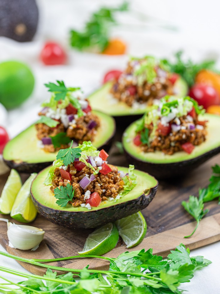 Keto Taco Stuffed Avocado Boats
