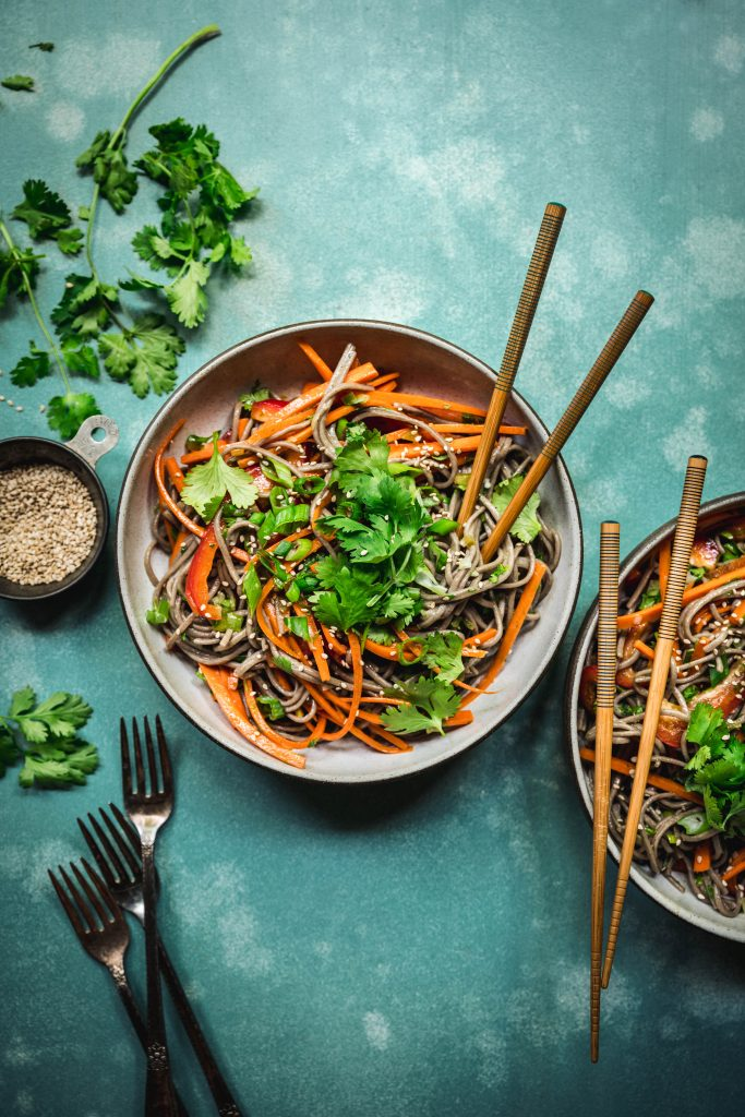 Soba Noodle Salad with Citrus Scallion Dressing