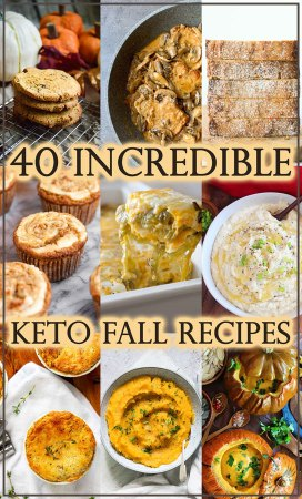 Are you also a HUGE fan of fall comfort foods? Then this round-up will be right up your alley. These 40 amazing keto recipes for fall will totally make your day!
