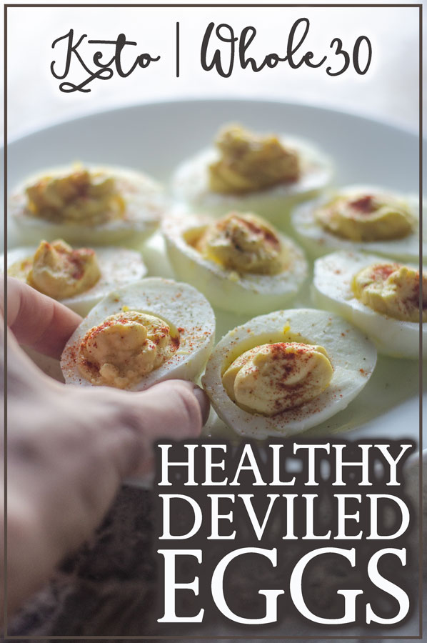 This healthy deviled egg recipe will please everyone at get-togethers! By switching just a few ingredients around, you can have keto, paleo and Whole30 friendly deviled eggs!