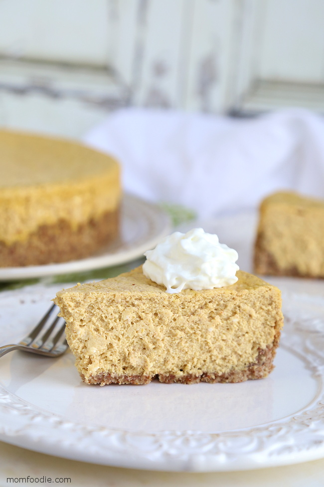 Keto Pumpkin Cheesecake - 4 Net Carbs!