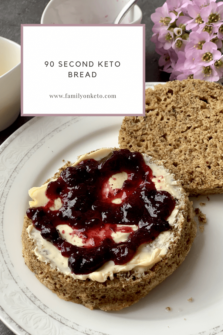 90 second keto bread without eggy taste - Family On Keto