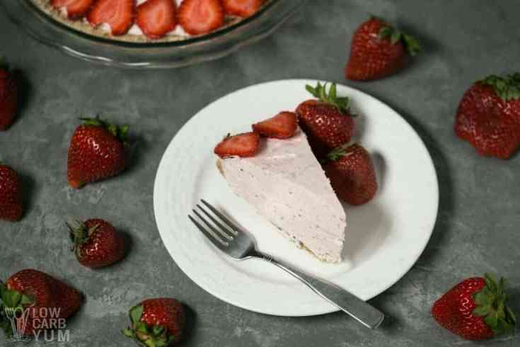 Strawberry Mousse Pie - Low Carb, and Gluten Free