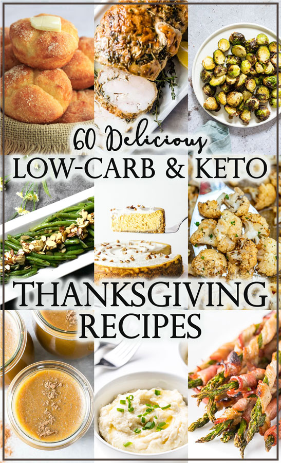 In need of some recipes for Thanksgiving? These low-carb and keto Thanksgiving recipes will give you all the recipes you could ever need!