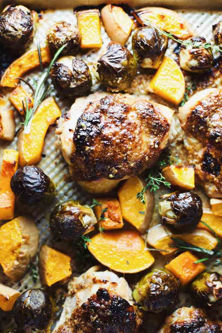 Autumn Dijon Chicken Sheet Pan