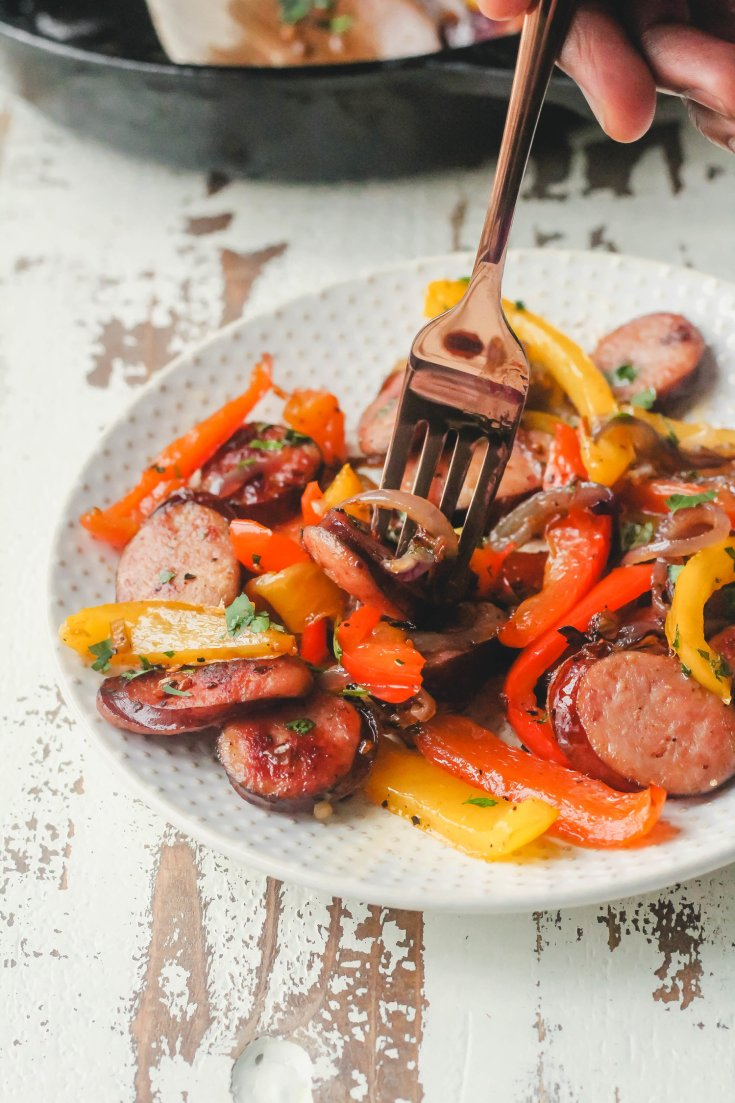Easy Sausage and Pepper Skillet