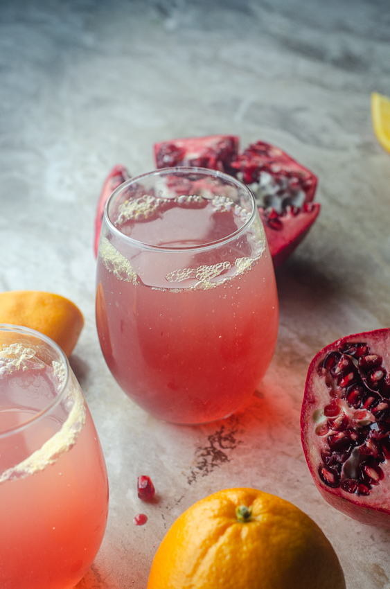 Looking for a delicious treat for a holiday or special occasion? This orange pomegranate mocktail is tasty (and healthy!) Paleo, refined sugar-free, vegan.