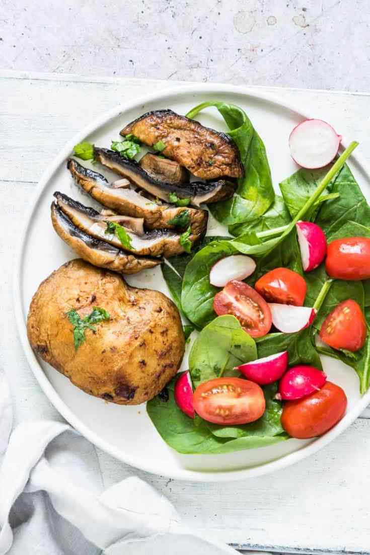 Air Fryer Mushrooms Steaks | Recipes From A Pantry