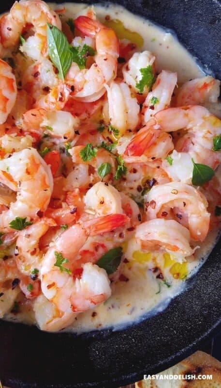 One Pan Creamy Shrimp Scampi Recipe