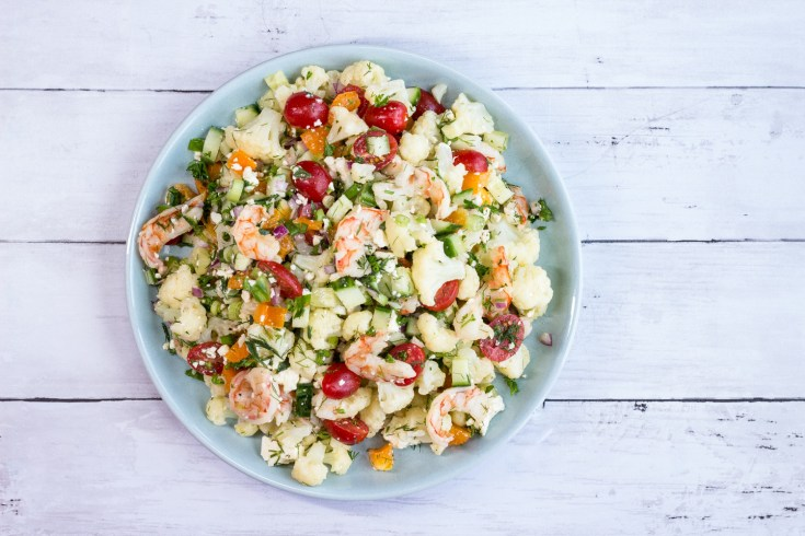 Oven Roasted Shrimp & Cauliflower Salad
