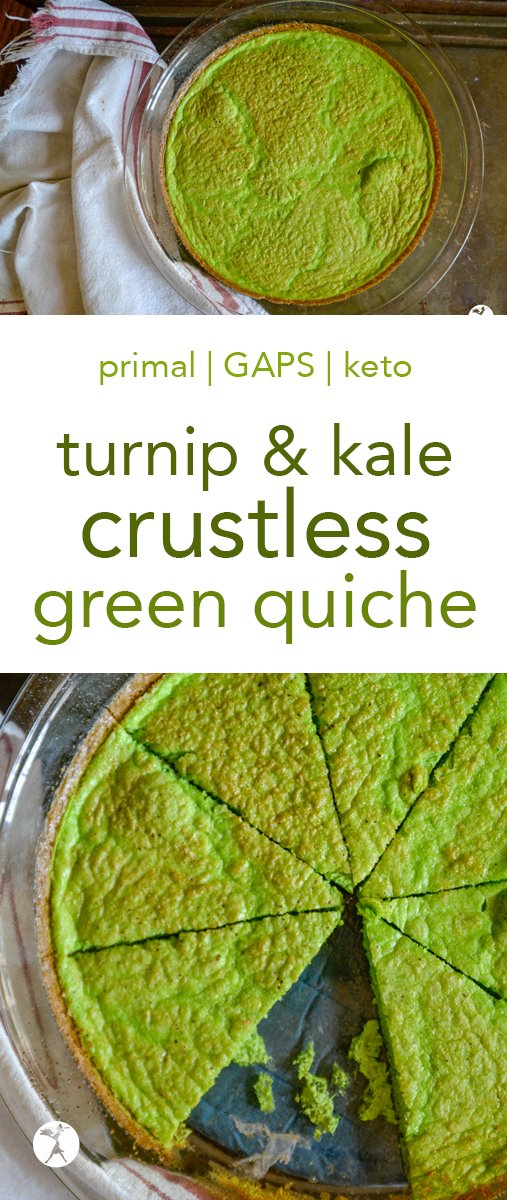 Turnip & Kale Crustless Green Quiche