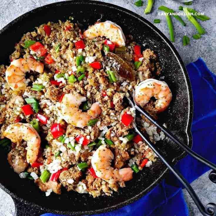 Cajun Dirty Rice Recipe (Keto/LowCarb)