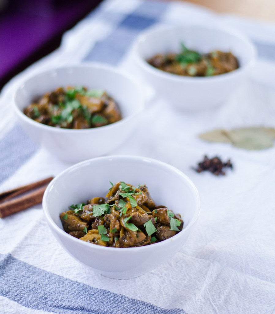 Garam Masala Mushroom and Onion Stew
