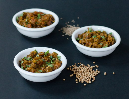 Smoky Eggplant with Tomato, Onion, and Cumin ~ Baigan Bharta