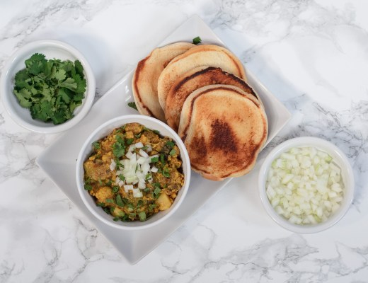 Spiced Summer Vegetables with Butter Toasted Bread ~ Pav Bhaji