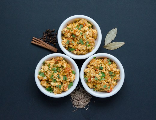 Spiced Paneer with Tomatoes and Onions ~ Paneer Bhurji