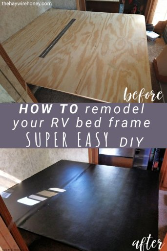 How to do a Simple Upholstery Remodel on Your RV Bed Frame