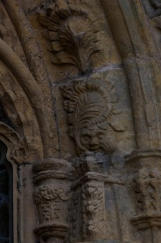 Rosslyn has over 100 'green men'. They are harder to spot than you might imagine!