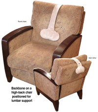 Adjustable support pillow for any recliner, chair, or seat ...