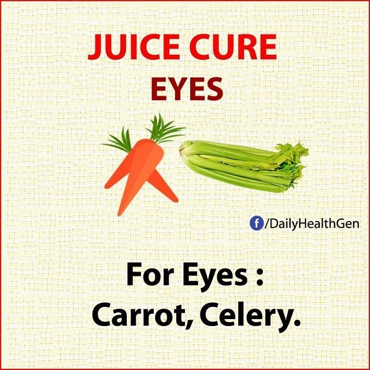 juice cure eyes