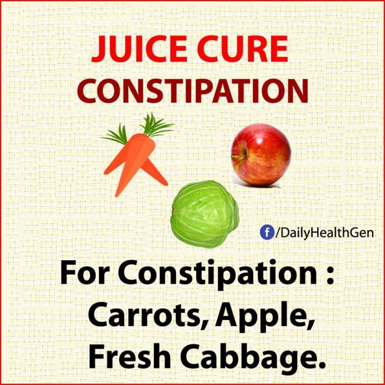 juice cure constipation
