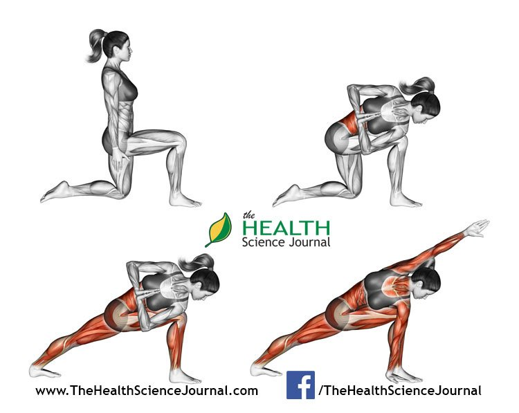 © Sasham   Dreamstime.com - Yoga exercise. Revolved Side Angle Pose. Parivrtta Parsvakonasana. Female