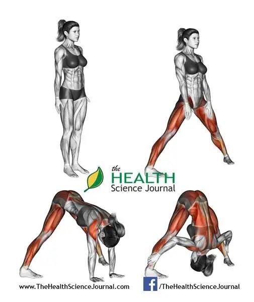 © Sasham   Dreamstime.com - Yoga exercise. Wide-legged Forward Bend. Prasarita Padottanasana. Female