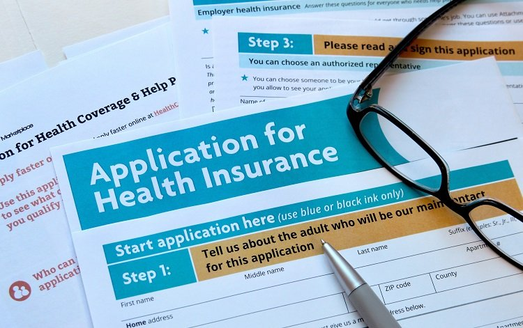 Documents related to application for health insurance