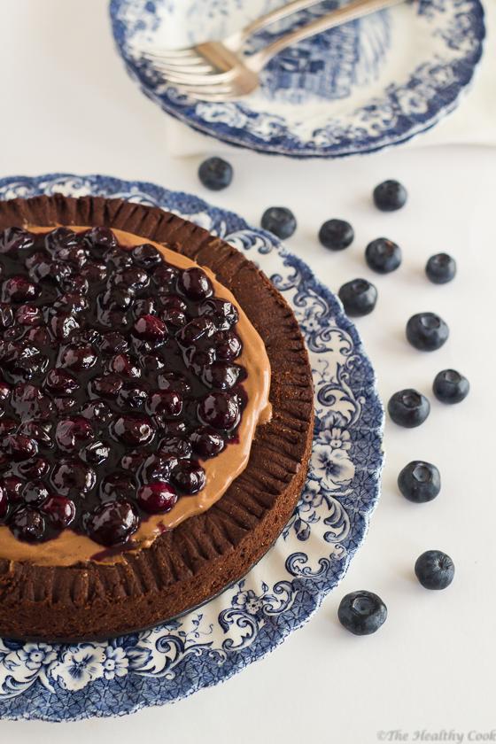 Chocolate-Blueberry-Pie – Τάρτα-με-Σοκολάτα-και-Μύρτιλλα
