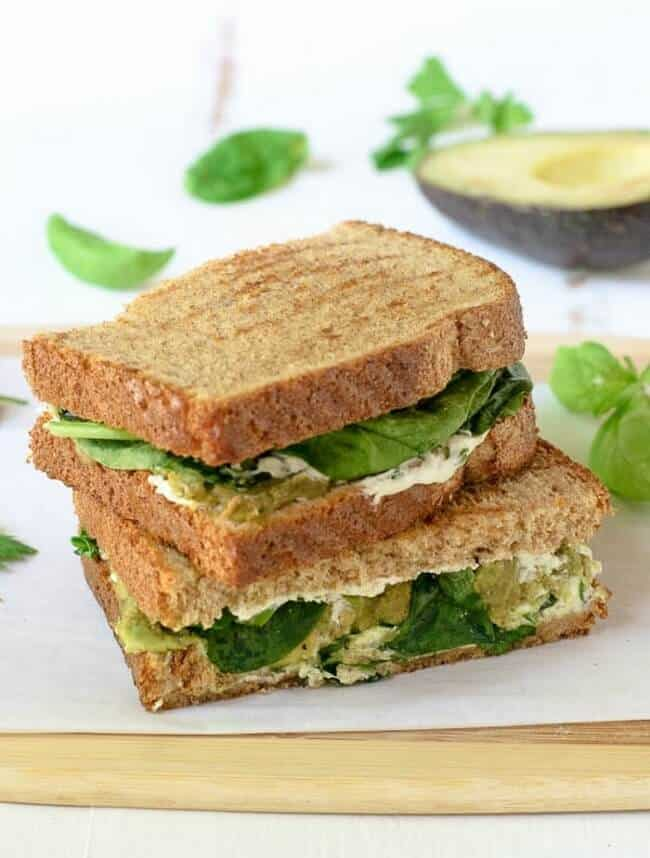 Avocado Grilled Cheese With Goat Cheese And Herbs