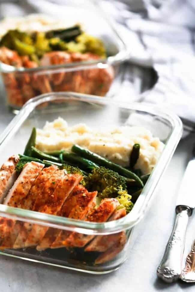 Spicy Chicken Meal Prep Bowls by Primavera Kitchen