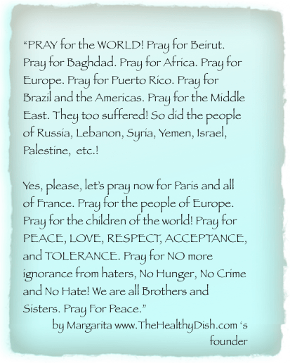 Lets Pray For World Peace For Paris For Everyone